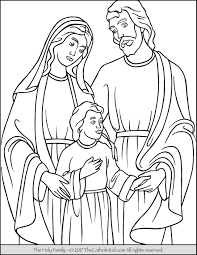 Ingenious Inspiration Ideas Holy Family Coloring Page Thecatholickid