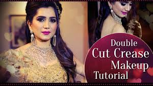 double cut crease makeup tutorial l party makeup tutorial krushhh by konica you