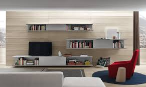 Tv Cabinet In Living Room Floating Tv Shelf Stunning Flat Tv On The Gray Wall Ideas Living