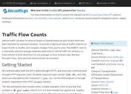 Sdot Org Chart Dataseattlegov Traffic Flow Api Overview Documentation