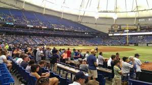 Rays Seating Chart With Rows Tropicana Field Section 128 Row J Home Of Tampa Bay Rays