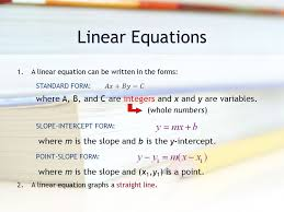 3 linear equations