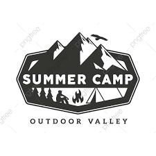 Vintage Wildlife Summer Camp Badge Illustration Mountain Camping
