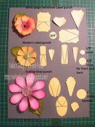 Extra Large Flower Paper Punch Make Your Own Flowers By Using Stampin Up Punches Pinned