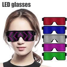 NEW 11 Modes Display Quick <b>Flash Led</b> Party Glasses USB ...