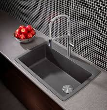 a hot new colour for a sink cinder grey this blanco sink also offers