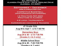 aau alameda vipers basketball boys s tryouts for fall season