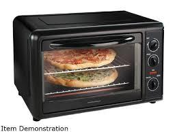 hamilton beach 31101 black countertop convection oven with rotisserie
