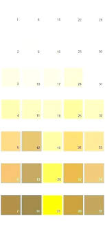 Shades Of Yellow Color Chart Light Yellow Paint Colors Green Most Popular Color Butter