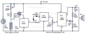 simple fire alarm circuit using ldr free evacuation floor plan template at Fire Alarm Layout Diagram