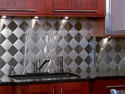 kitchen backsplash stainless steel tiles:  kitchen stunning stunning stainless tile backsplash stainless steel tile backsplash for the classy backsplash design