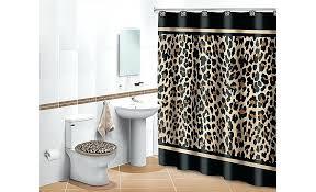 animal print bathroom set leopard rug ed 950