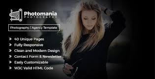 Photomania Agency - Modern Photography Template by pentathemes ...
