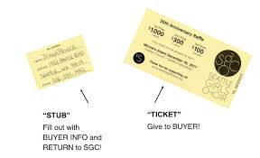 Raffle Ticket Booklets How To Fill Out A Raffle Ticket Seattle Girls Choir