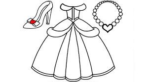 Top 8 tranh tô màu váy công chúa đẹp nhất cho bé gái