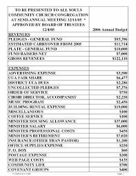 annual financial statement template church financial statement template excel sample budget