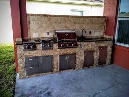 Granite For Outdoor Kitchen Backsplash Creative Outdoor Kitchens
