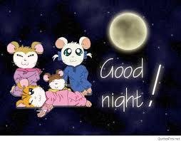 good night cartoon wallpaper