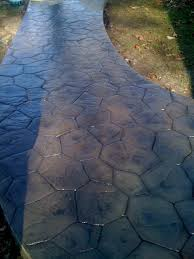 stained stamped concrete patio. Stamped Concrete Rhode Island Patio Walk Pool Stained Paver Acid
