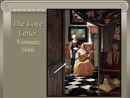 The Love Letter Vermeer 1666