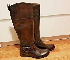 frye melissa brown leather harness zip riding boots womens size 6 m style 76929