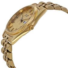 seiko day and date dress gold tone stainless steel mens watch seiko dial color gold gender men s
