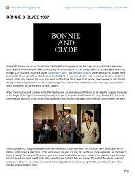 le cinema dreams film essay bonnie and clyde  1 10 2