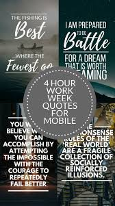 Quote Infographic 4 Hour Work Week Quotes 10 Mobile Wallpapers