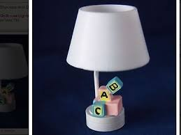 dollhouse miniature lighting battery operated nursery lamp w white shade