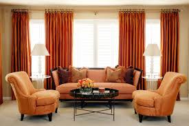 Orange Decorating For Living Room Orange Curtains For Living Room Home Decoration Ideas