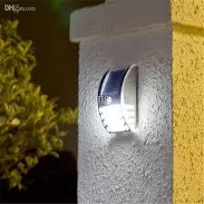 2018 solar power fence gutter light lamp 3 led garden lights throughout solar powered outdoor wall mounted lights plan
