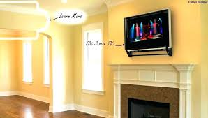 hide tv over fireplace concealed how to wires for wall mounted best hiding behind