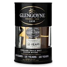 glengoyne single malt scotch whisky trio gift set 50ml minibar bottle