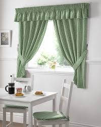 Contemporary Kitchen Curtains Lime Green And Cream Curtains Decorating Gingham Kitchen