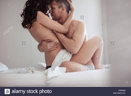 Junges Paar Beim Sex Im Schlafzimmer Sinnliche Liebhaber Machen