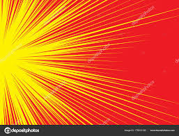 Radial Red Abstract Radial Red Line Zoom Speed Light Side Yellow Comic Stock