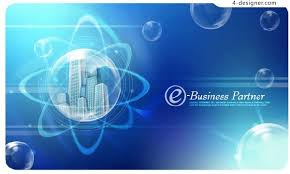 4 Designer Bubbles In The Blue Building Business Card
