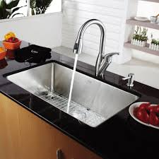 kraus stainless steel sinks. Contemporary Kraus Kraus KHU10030KPF2121SD20 30 Inch Undermount Single Bowl Stainless Steel  Sink With PullOut Faucet Soap Dispenser 10 Depth  Intended Sinks U