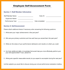Employee Appraisal Form Employee Self Review Comments Examples Pdr Performance