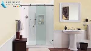 single glass shower doors by fab glasirror