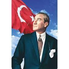 Gönder Bayrak Atatürk Posteri Raşel Kumaş - 200 x 300 cm Fiyatı