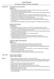 Editor Resume Sample Production Editor Resume Samples Velvet Jobs 20