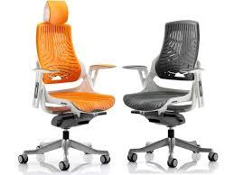 zephyr elastomer executive office chair in grey or orange