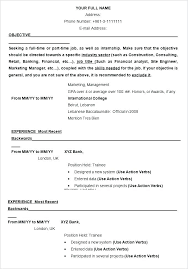 Resume Template Generator Impressive Internship Resume Builder Internship Resume Template Resume Example