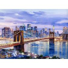 brooklyn bridge watercolor painting by roustam nour fine art giclée print for this new