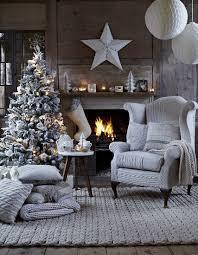 Grey Christmas Tree Christmas Design Indoor Christmas Tree Fireplace Living Room