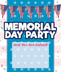 patriotic invitations templates party invitation template with patriotic buntings design confetti
