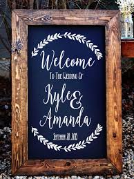 hey, i found this really awesome etsy listing at s www etsy Wedding Decorations Etsy welcome to the wedding of decal stencil decal wedding decor wedding established rustic wedding decor rustic wedding sign etsy rustic wedding decorations