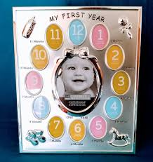 details about 11 x 9 silver baby my first year collage frame expressions newborn to 12 months
