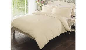 cream duvet cover brilliant 100 cotton stripe home garden george regarding 4